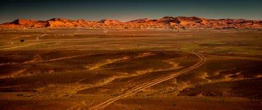 Dünen von Merzouga Wüste des Saharas marokko lizenzfreies stockfoto