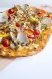 Dünne Kruste-Pizza Lizenzfreies Stockbild