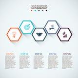 Dünne Linie flaches Element für infographic Stockbilder