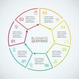 Dünne Linie flaches Element für infographic Lizenzfreie Stockfotos