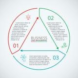 Dünne Linie flaches Element für infographic Stockfoto