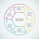 Dünne Linie flaches Element für infographic Lizenzfreie Stockfotografie