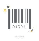 Dünne Linie Ikonen, Barcode Stockbilder