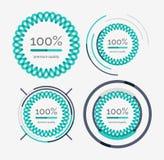 Dünne Linie ordentlicher Designlogosatz, erstklassige Qualität stock abbildung