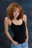 Dünne Redhead-Frau stockfoto