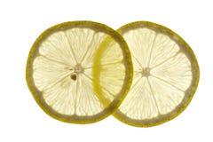 Dünne Scheiben der Zitrone Stockfoto