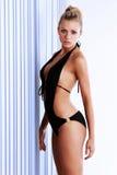 Dünnes attraktives reizvolles blondes Baumuster Lizenzfreie Stockfotografie
