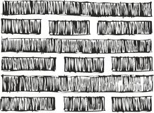 Dünnes einfaches nahtloses Vektor-Muster Pen Doodle Bold Lines Fills oder nahtloser Vektor-Hintergrund Stockfotos