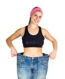 Dünnes Sitz-Diät-Gewichts-messende Taille lizenzfreie stockfotos