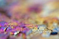 Dünnschicht des Titanen auf einem Quarzoberfläche Makro Lizenzfreies Stockfoto