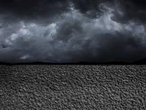 Dürre auf Erde in der Zukunft Stockbild