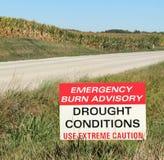 Dürre bedingt Beratungszeichen Stockfotografie