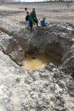Dürre in Indonesien stockfotos