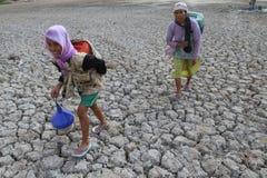 Dürre in Indonesien lizenzfreie stockbilder