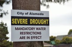 Dürre Kaliforniens 2014 Stockfotos