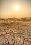 Dürrenland und heißes Wetter Lizenzfreies Stockfoto