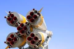 Düsen des Soyuz Raumfahrzeugs stockfotos