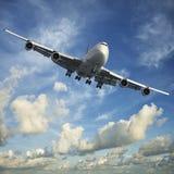 Düsenflugzeug stockbilder