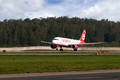 Düsenflugzeug Airbus-A319 Stockfotografie