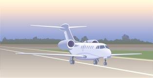 Düsenflugzeug für das Transportieren von kleinen Gruppen von Personen Stockfotos