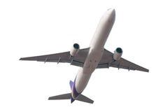 Düsenflugzeug lokalisiert auf weißem Hintergrund Stockfotos