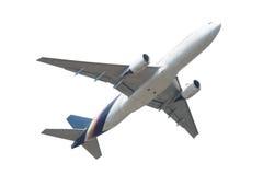 Düsenflugzeug lokalisiert auf weißem Hintergrund Lizenzfreie Stockfotos