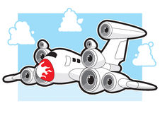 Düsenflugzeug mit Lautsprechern Stockfotografie