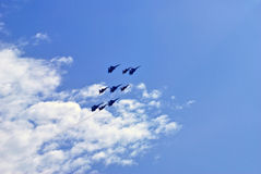 Düsenflugzeuge Lizenzfreies Stockfoto