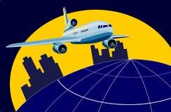 Düsenflugzeugstart Lizenzfreies Stockfoto