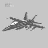 Düsenjägervektorillustration Aero Alca L-159 Trägerflugzeug Moderner Überschallkämpfer Lizenzfreies Stockfoto