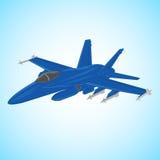 Düsenjägervektorillustration Aero Alca L-159 Trägerflugzeug Moderner Überschallkämpfer Stockbild
