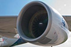 Düsentriebwerk der Flugzeuge A380 lizenzfreie stockfotografie