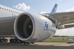 Düsentriebwerk der Flugzeuge A380 stockfotos