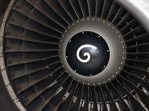 Turbine des Düsenflugzeugs stockbild