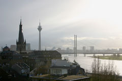 Düsseldorf. Old and new buildings in city of Germany royalty free stock photo