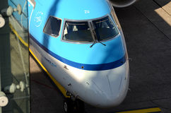 Düsseldorf airport - Air France KLM cockpit Royalty Free Stock Images