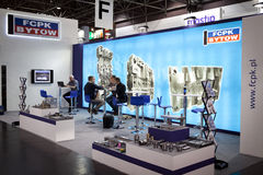 Düsseldorf exhibition K FCPK. Extruder in Germany on the exhibition K in Düsseldorf. nThe fair is the biggest worldwide with regard to plastic products royalty free stock photography