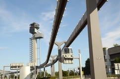 Düsseldorf Intarnational -  New Control Tower. Airport Düsseldorf-International – DFS Air Traffic Control Tower Düsseldorf -  International Airport Royalty Free Stock Photography