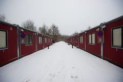 Düstere Behälterwohnung im Winter Lizenzfreie Stockfotos