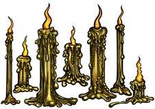 Düstere Kerzen eingestellt Stockfotografie