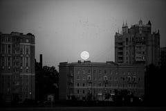 Düsterer Mond unter Petersburg weinlese Stockbild