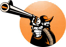 dążąca kowboja pistoletu krócica Obraz Royalty Free
