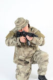 dążący żołnierz Fotografia Stock