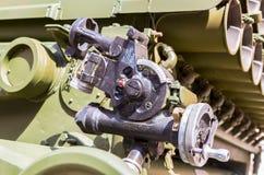Dążący przyrządu BM-21 absolwent, machinalny panoramiczny widok Zdjęcie Royalty Free