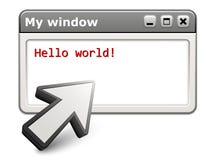 dążący strzałkowaty komputerowy okno ilustracja wektor
