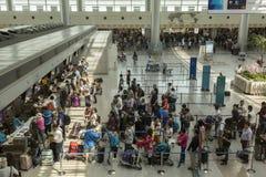 Dębny syna Nhat lotnisko międzynarodowe, Wietnam, sprawdza wewnątrz sala Obrazy Stock