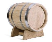 Dębowa drewniana baryłka na stojakach Zdjęcie Royalty Free