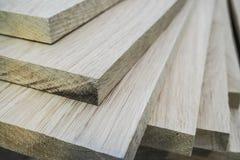 Dębowe deski drewno są plika meble produkcją Zdjęcia Stock