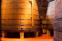 Dębowe Portowego wina baryłki, Porto Obrazy Stock