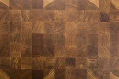 Dębowego drewna butcher's kończą zbożową ciapanie bloku deskę Fotografia Royalty Free